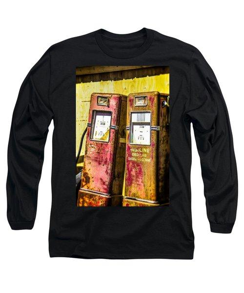 Long Sleeve T-Shirt featuring the photograph Regular Gasoline by Steven Bateson