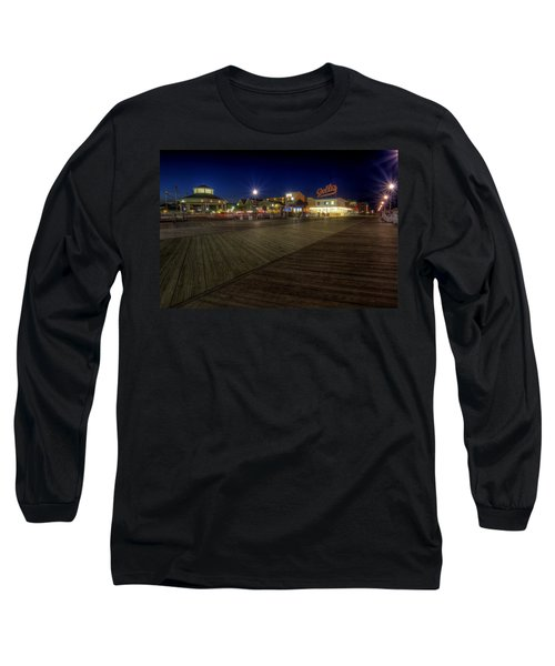 Rehoboth Beach Boardwalk At Night Long Sleeve T-Shirt