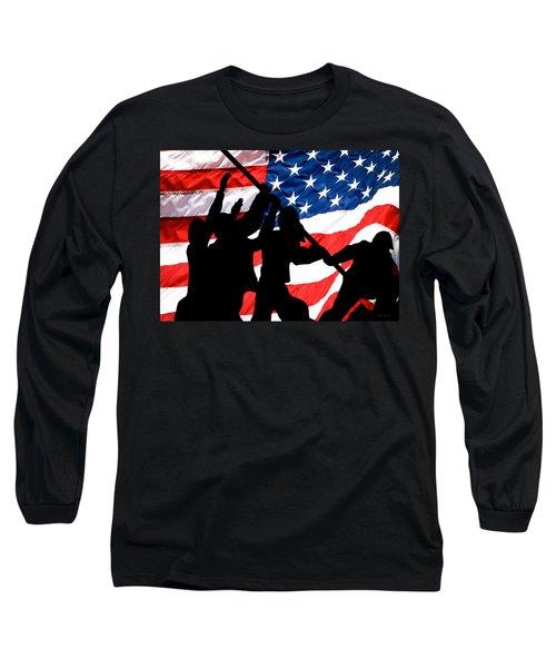 Remembering World War II Long Sleeve T-Shirt by Bob Orsillo