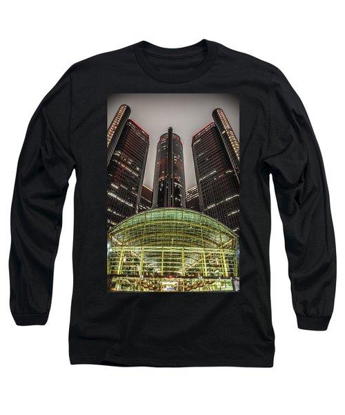 Renaissance Center Detroit Michigan Long Sleeve T-Shirt