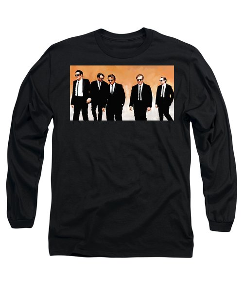 Long Sleeve T-Shirt featuring the painting Reservoir Dogs Movie Artwork 1 by Sheraz A