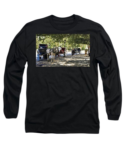 Rest Stop - Central Park Long Sleeve T-Shirt by Madeline Ellis