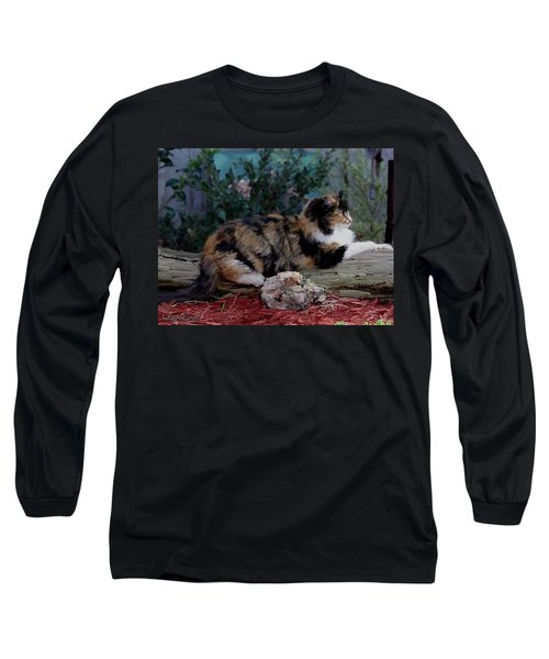Resting Calico Cat Long Sleeve T-Shirt