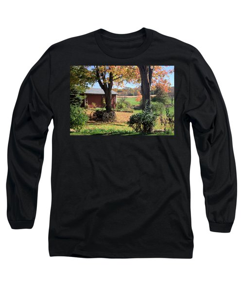 Long Sleeve T-Shirt featuring the photograph Retired Wagon by Gordon Elwell