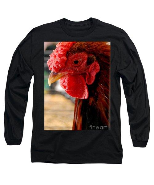 Rhode Island Red Long Sleeve T-Shirt by Eunice Miller