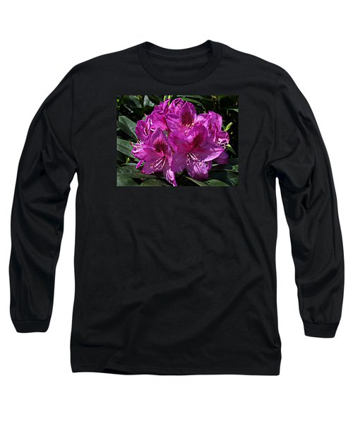 Rhododendron ' Anah Kruschke ' Long Sleeve T-Shirt by William Tanneberger