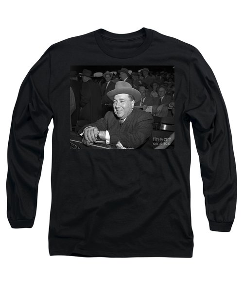 Long Sleeve T-Shirt featuring the photograph Richard J. Daley 1955 by Martin Konopacki Restoration