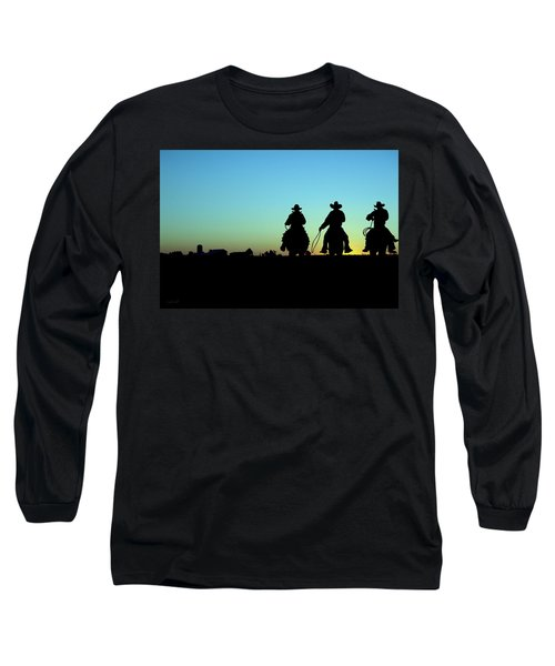 Ride 'em Cowboy Long Sleeve T-Shirt by Andrea Kollo