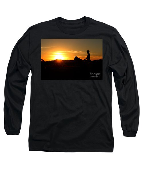 Riding At Sunset Long Sleeve T-Shirt