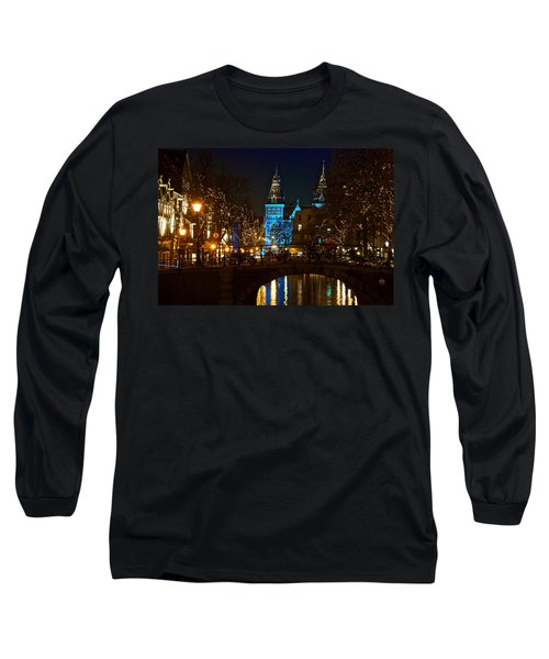 Rijksmuseum At Night Long Sleeve T-Shirt by Jonah  Anderson