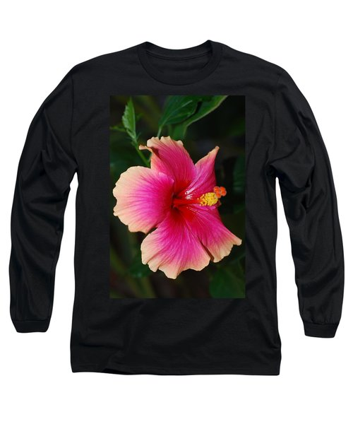 Rise And Shine - Hibiscus Face Long Sleeve T-Shirt by Connie Fox