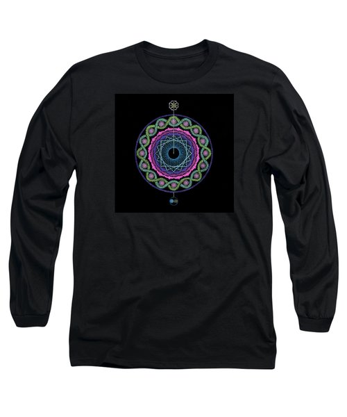 Long Sleeve T-Shirt featuring the painting Rising Above Challenges by Keiko Katsuta