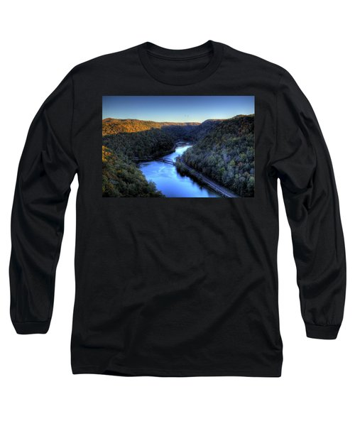 Long Sleeve T-Shirt featuring the photograph River Cut Through The Valley by Jonny D
