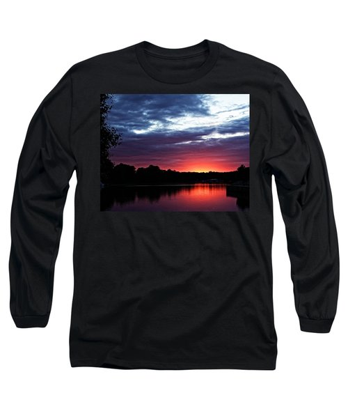Long Sleeve T-Shirt featuring the photograph River Glow by Dave Files