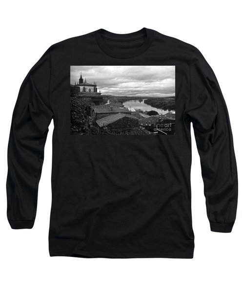 River Mino And Portugal From Tui Bw Long Sleeve T-Shirt