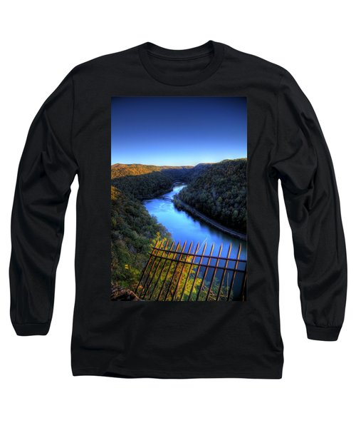Long Sleeve T-Shirt featuring the photograph River Through A Valley by Jonny D