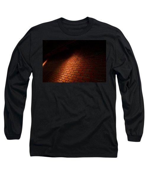 River Walk Brick Wall Long Sleeve T-Shirt by Shawn Marlow