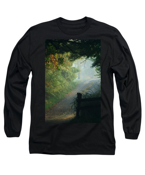 Road Goes On Long Sleeve T-Shirt by Michael McGowan