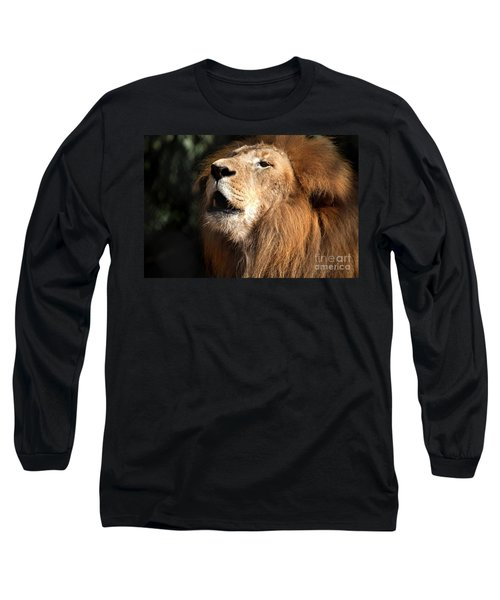 Long Sleeve T-Shirt featuring the photograph Roar - African Lion by Meg Rousher