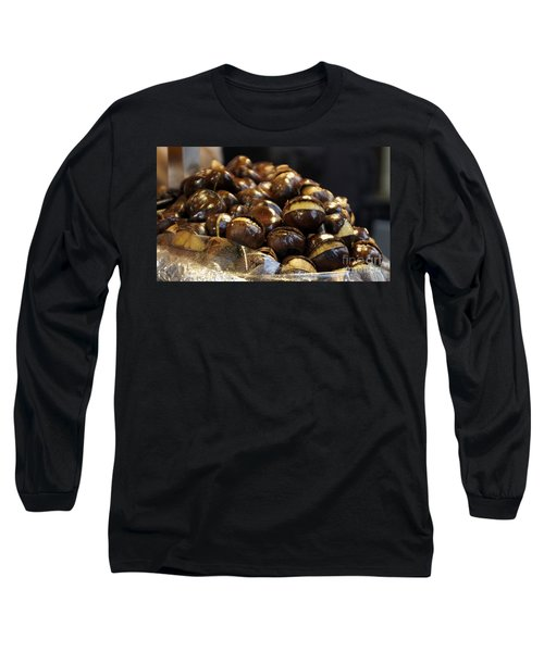 Long Sleeve T-Shirt featuring the photograph Roasted Chestnuts by Lilliana Mendez
