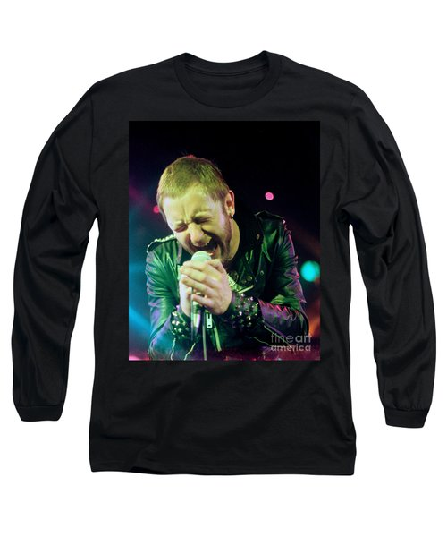 Rob Halford Of Judas Priest Without Flames Effect- Warfield Theater During British Steel-unreleased  Long Sleeve T-Shirt