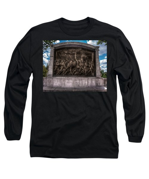 Robert Gould Shaw Memorial On Boston Common Long Sleeve T-Shirt by Tom Gort