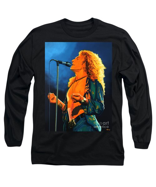 Robert Plant Long Sleeve T-Shirt by Paul Meijering