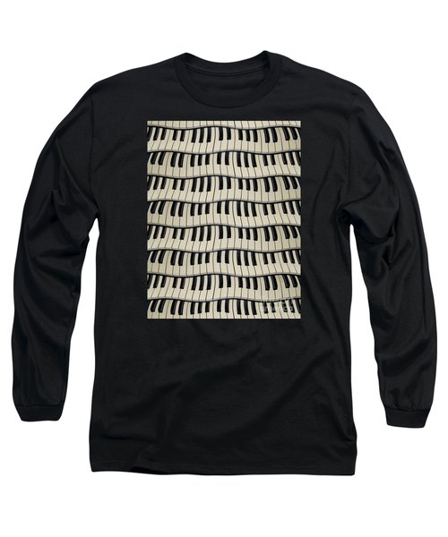 Rock And Roll Piano Keys Long Sleeve T-Shirt