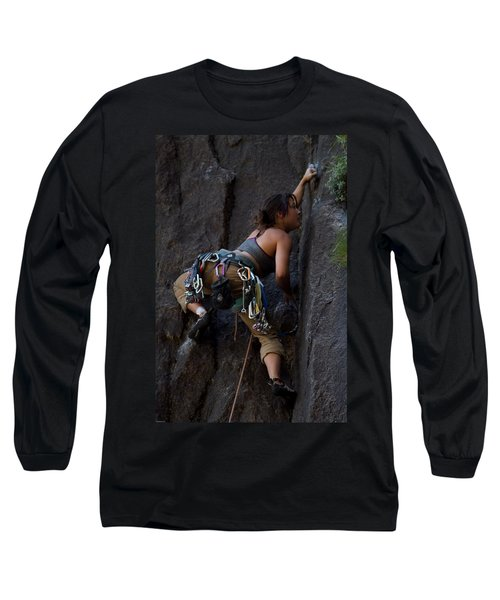 Rock Climbing Long Sleeve T-Shirt by Brian Williamson