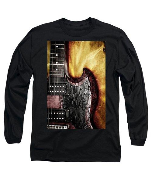 Rock On Gibson  Long Sleeve T-Shirt by Aaron Berg