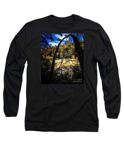 Rock Slide Long Sleeve T-Shirt by Robert McCubbin