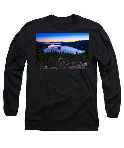 Rocks Over Emerald Bay Long Sleeve T-Shirt