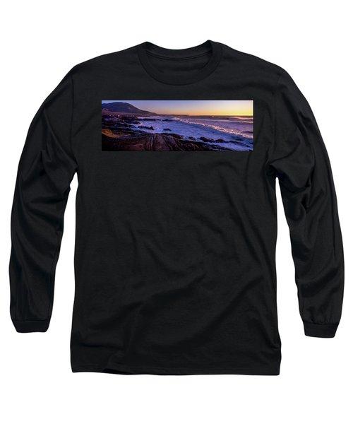 Rocky Coastline At Sunset, Montana De Long Sleeve T-Shirt