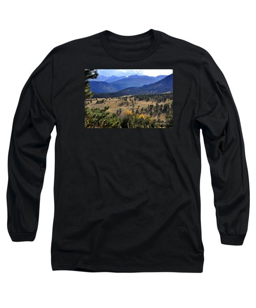 Long Sleeve T-Shirt featuring the photograph Rocky Mountain Evening by Nava Thompson