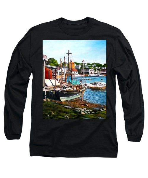 Rocky Neck October Long Sleeve T-Shirt by Eileen Patten Oliver