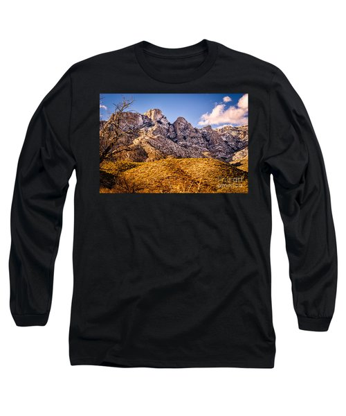 Long Sleeve T-Shirt featuring the photograph Rocky Peaks by Mark Myhaver