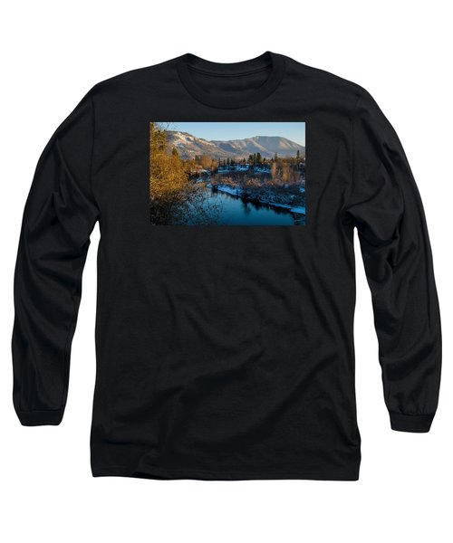 Rogue River Winter Long Sleeve T-Shirt by Mick Anderson