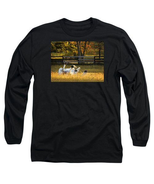 Long Sleeve T-Shirt featuring the photograph Roll In The Hay by Joan Davis