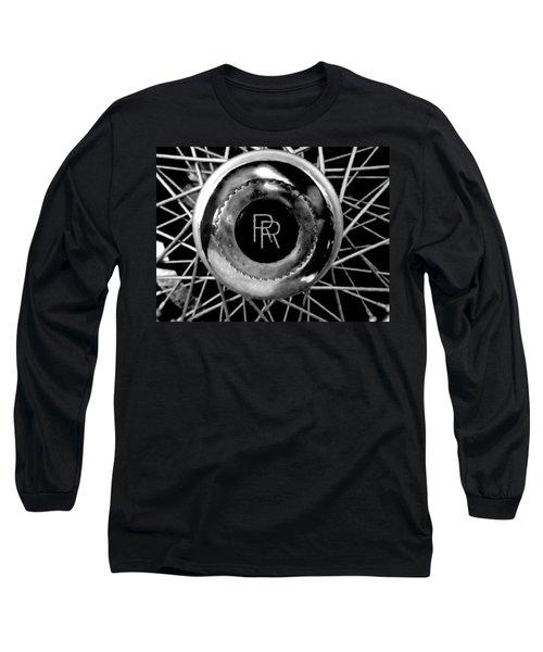 Rolls Royce - Black And White Long Sleeve T-Shirt