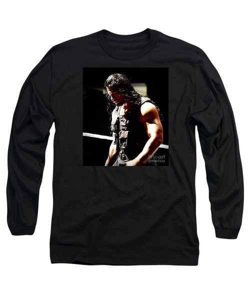 Roman Reigns Long Sleeve T-Shirt by Paul  Wilford