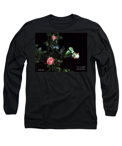 Romance Of The Roses Long Sleeve T-Shirt by Becky Lupe