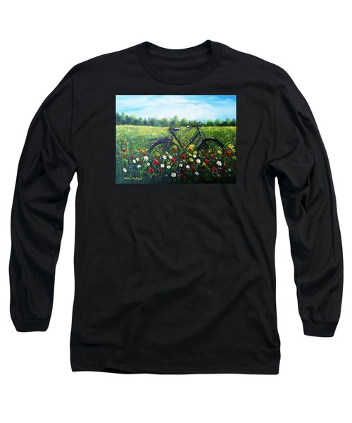 Long Sleeve T-Shirt featuring the painting Romantic Break by Vesna Martinjak