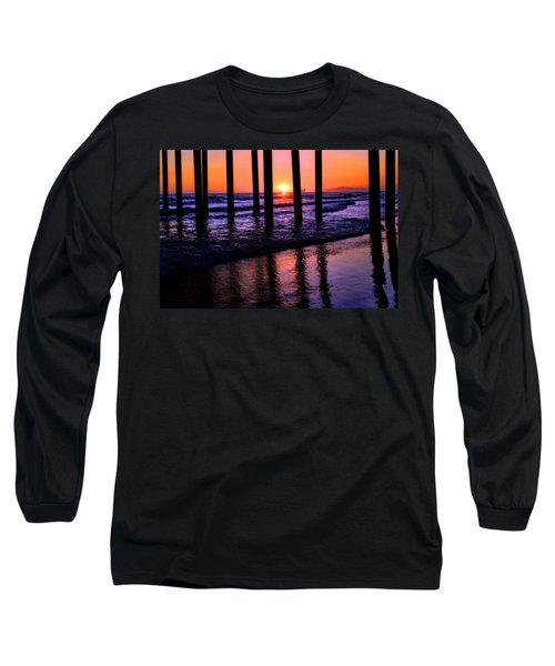 Romantic Stroll Long Sleeve T-Shirt by Tammy Espino