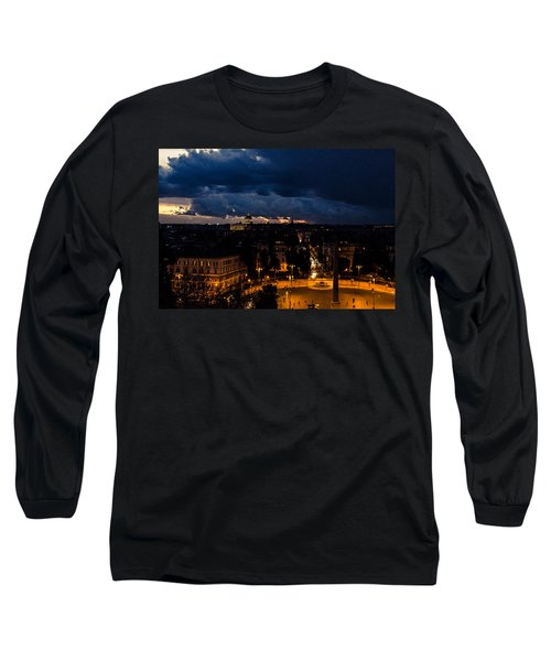 Rome Cityscape At Night  Long Sleeve T-Shirt