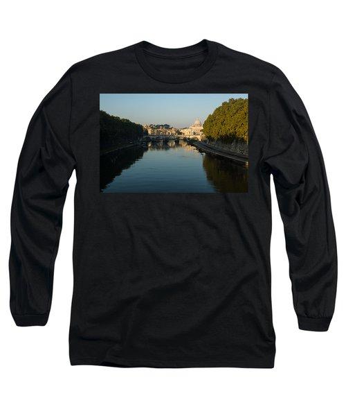 Long Sleeve T-Shirt featuring the photograph Rome Waking Up by Georgia Mizuleva