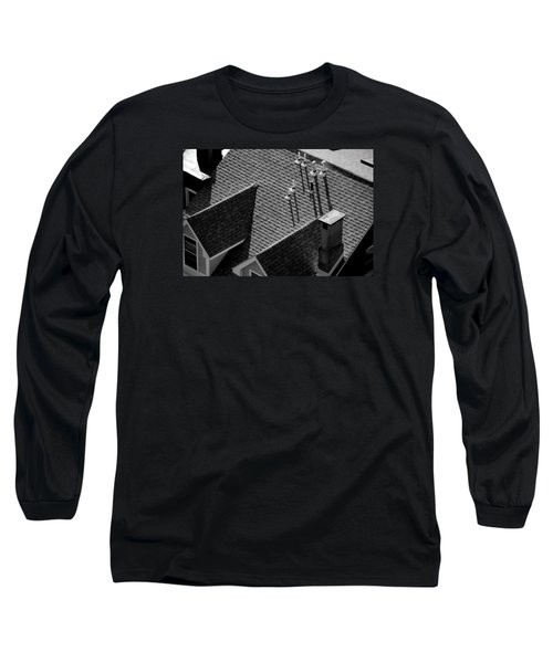 Long Sleeve T-Shirt featuring the photograph Rooftop by John Schneider