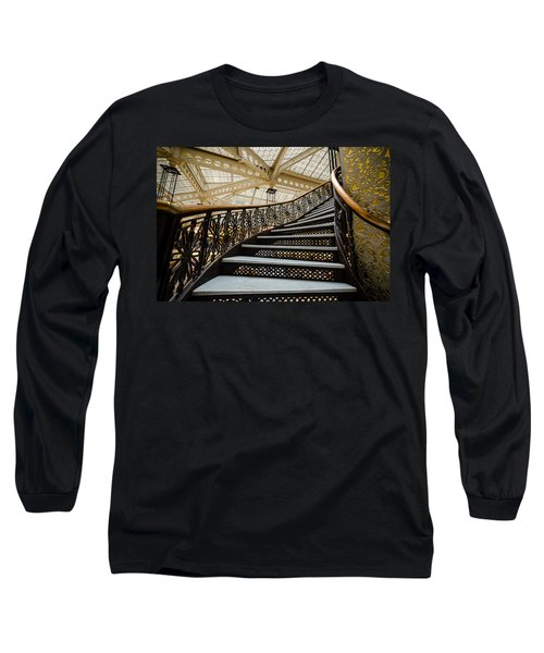 Rookery Building Atrium Staircase Long Sleeve T-Shirt