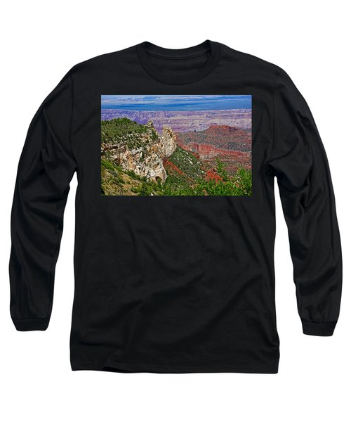 Roosevelt Point Two On North Rim/grand Canyon National Park-arizona   Long Sleeve T-Shirt by Ruth Hager