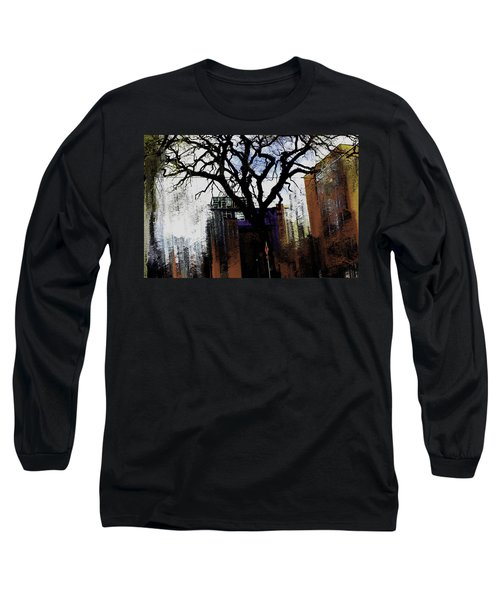 Long Sleeve T-Shirt featuring the mixed media Rooted In The Unstable by Terence Morrissey