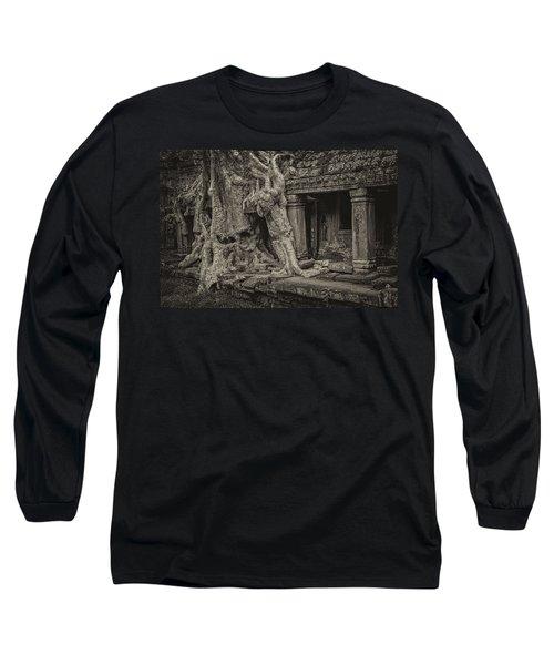 Roots In Ruins 7, Ta Prohm, 2014 Long Sleeve T-Shirt by Hitendra SINKAR